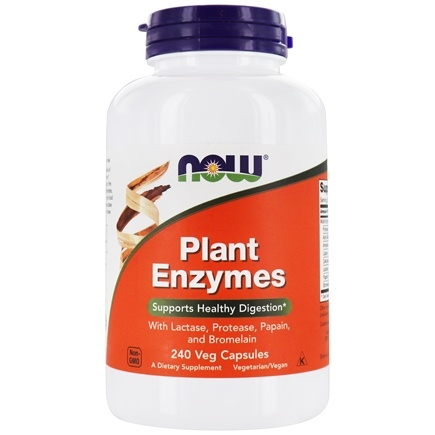 NOW Foods - Plant Enzyme - 240 Vegetarian Capsules