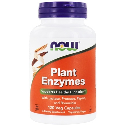 NOW Foods - Plant Enzymes - 120 Vegetarian Capsules