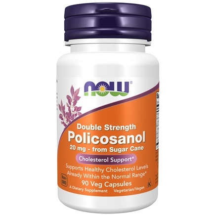 NOW Foods - Policosanol (Double Strength) 20 mg. - 90 Vegetarian Capsules