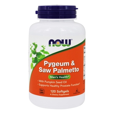 NOW Foods - Pygeum & Saw Palmetto Extract 50/160 mg. - 120 Softgels
