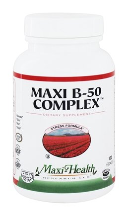 DROPPED: Maxi-Health Research Kosher Vitamins - Maxi B-50 Complex - 100 Capsules