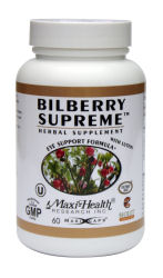 DROPPED: Maxi-Health Research Kosher Vitamins - Bilberry Supreme - 60 Capsules