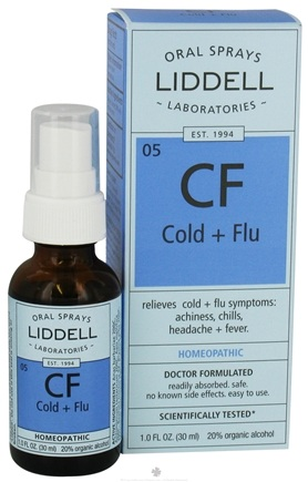 DROPPED: Liddell Laboratories - Cold + Flu Homeopathic Oral Spray - 1 oz.