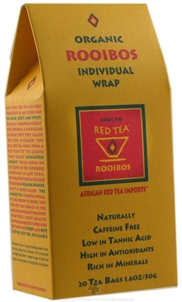 DROPPED: African Red Tea Imports - Rooibos Red Tea - Organic - 20 Tea Bags