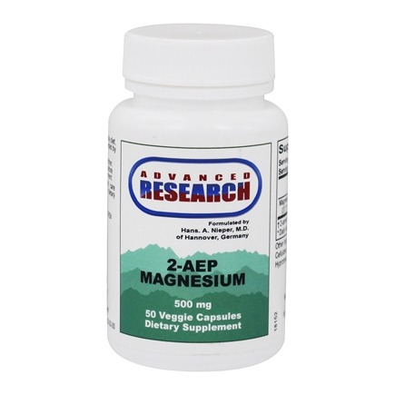 DROPPED: Advanced Research - 2-AEP Magnesium 500 mg. - 50 Vegetarian Capsules CLEARANCE PRICED