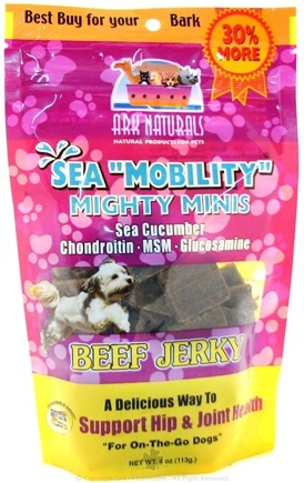 DROPPED: Ark Naturals - Beef Jerky Mini Squares For Dogs - 2.85 oz. CLEARANCE PRICED