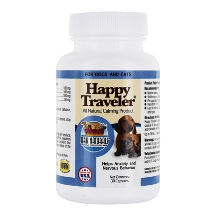 Ark Naturals - Happy Traveler Pet Calmer For Cats & Dogs - 30 Capsules
