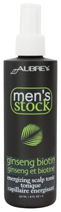 Aubrey Organics - Men's Stock Biotin Energizing Scalp Tonic - 8 oz.