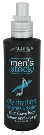 DROPPED: Aubrey Organics - Men's Stock City Rhythms After Shave Balm - 4 oz. CLEARANCE PRICED