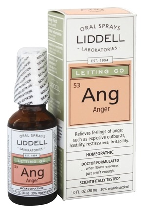 Liddell Laboratories - Letting Go Anger Homeopathic Oral Spray - 1 oz.