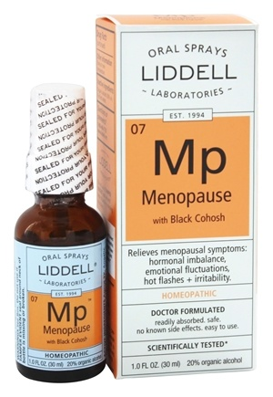 Liddell Laboratories - Menopause with Black Cohosh Homeopathic Oral Spray - 1 oz.
