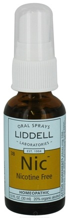 DROPPED: Liddell Laboratories - Nic Nicotine Free Homeopathic Oral Spray - 1 oz. CLEARANCE PRICED