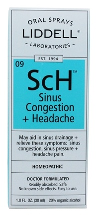 Liddell Laboratories - Sinus Congestion + Headache with Echinacea Homeopathic Oral Spray - 1 oz.