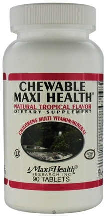 DROPPED: Maxi-Health Research Kosher Vitamins - Chewable Maxi Health- Tropical - 90 Tablets