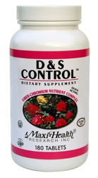 DROPPED: Maxi-Health Research Kosher Vitamins - D & S Weight Control Management - 180 Tablets