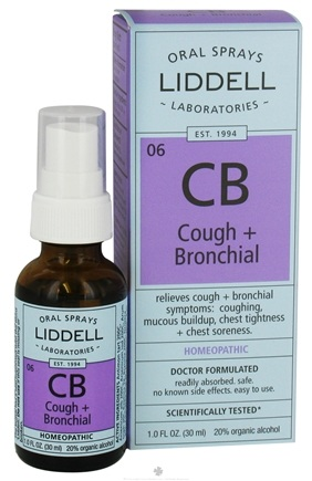 DROPPED: Liddell Laboratories - Cough + Bronchial Homeopathic Oral Spray - 1 oz. CLEARANCE PRICED
