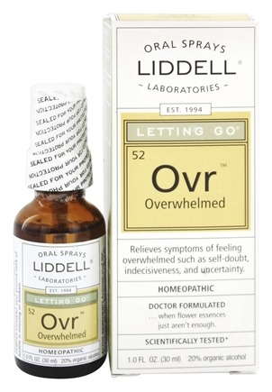 Liddell Laboratories - Letting Go Overwhelmed Homeopathic Oral Spray - 1 oz.