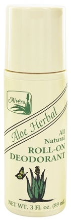 Alvera - All Natural Roll-On Deodorant Aloe Herbal - 3 oz.