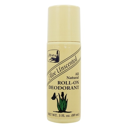 Alvera - All Natural Roll-On Deodorant Aloe Unscented - 3 oz.