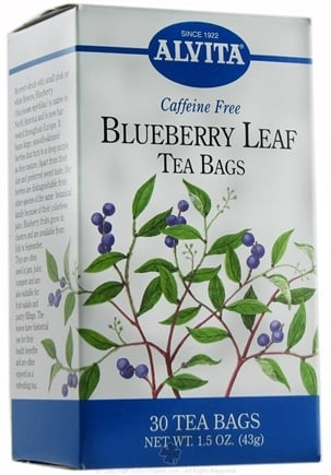DROPPED: Alvita - Blueberry Leaf Caffeine Free - 30 Tea Bags CLEARANCE PRICED