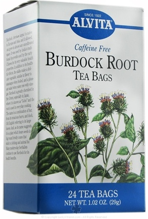 DROPPED: Alvita - Burdock Root Caffeine Free - 24 Tea Bags