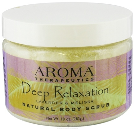 DROPPED: Abra Therapeutics - Aroma Therapeutics Natural Body Scrub Deep Relaxation Lavender and Melissa - 10 oz. CLEARANCE PRICED