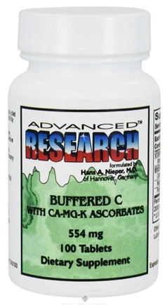 DROPPED: Advanced Research - Buffered C with CA-MG-K Ascorbates 554 mg. - 100 Tablets CLEARANCE PRICED