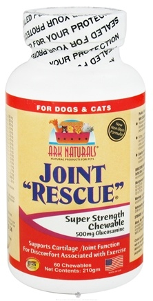 DROPPED: Ark Naturals - Joint Rescue Super Strength For Dogs & Cats - 60 Chewable Wafers CLEARANCE PRICED