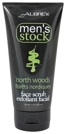 Aubrey Organics - Men's Stock North Woods Face Scrub Pine - 6 oz.