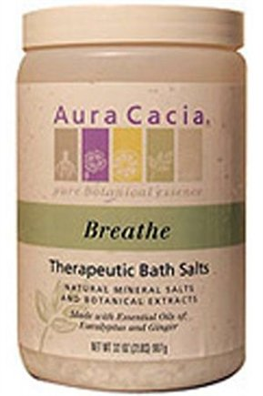 DROPPED: Aura Cacia - Bath Salt Breathe Eucalyptus & Peppermint - 32 oz.