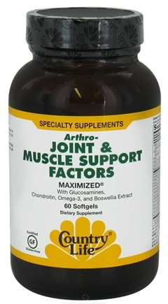 DROPPED: Country Life - Arthro-Joint & Muscle Relief Factors Maximized - 60 Softgels CLEARANCE PRICED