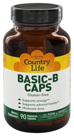 Country Life - Basic-B Caps Vitamin B Complex 25 mg. - 90 Vegetarian Capsules