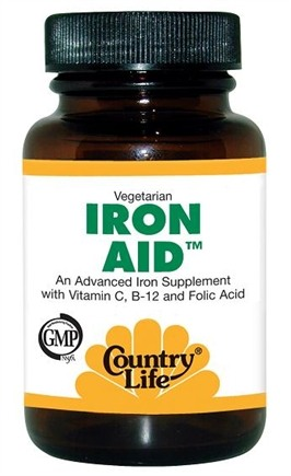 DROPPED: Country Life - Iron-Aid - 90 Tablets