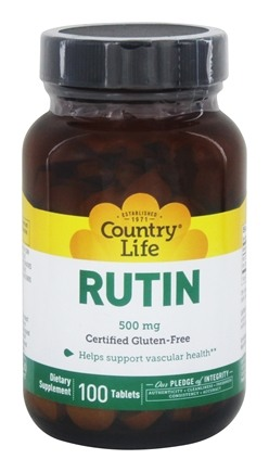 Country Life - Rutin 500 mg. - 100 Tablets LUCKY DEAL