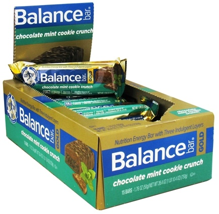 DROPPED: Balance - Nutrition Energy Bar Gold Crunch Chocolate Mint Cookie - 1.76 oz.