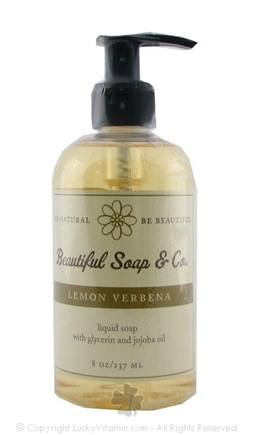 DROPPED: Beautiful Soap & Co. - Liquid Soap Lemon Verbena - 8 Oz.