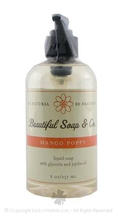 DROPPED: Beautiful Soap & Co. - Liquid Soap Mango Poppy - 8 Oz.