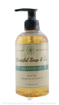 DROPPED: Beautiful Soap & Co. - Liquid Soap Peppermint - 8 Oz.