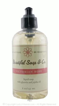 DROPPED: Beautiful Soap & Co. - Liquid Soap Victorian Rose - 8 Oz.