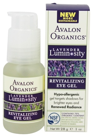 Avalon Organics - Lavender Luminosity Revitalizing Eye Gel Unscented - 1 oz.