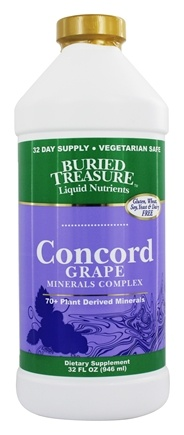 Buried Treasure Products - Liquid Plant Derived Minerals Concord Grape - 32 oz.