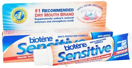 DROPPED: Biotene Dental - Sensitive Toothpaste with Gentle Dry Mouth Protection - 3.5 oz.