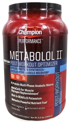 Champion Performance - Metabolol II Post-Workout Optimizer Simply Plain - 2.2 lbs.