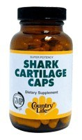 DROPPED: Country Life - Shark Cartilage 800 mg. - 50 Vegetarian Capsules