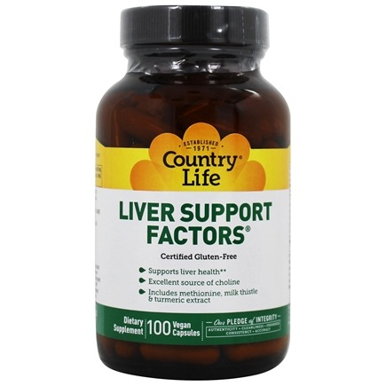 Country Life - Liver Support Factors Formula XVI - 100 Tablets Formerly Biochem Formula XVI