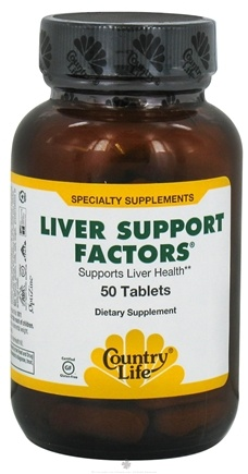 DROPPED: Country Life - Liver Support Factors - 50 Tablets CLEARANCE PRICED