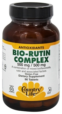 Country Life - Bio-Rutin Complex - 90 Vegetarian Tablets
