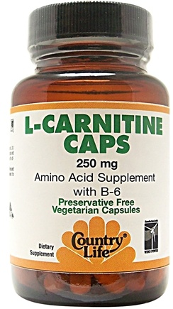 DROPPED: Country Life - L-Carnitine with B-6 250 mg. - 60 Vegetarian Capsules