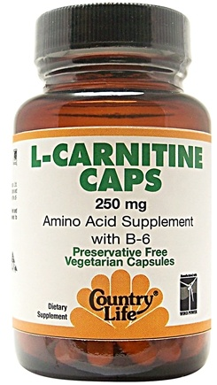 DROPPED: Country Life - L-Carnitine Caps with B-6 250 mg. - 30 Capsules