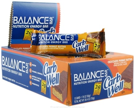 DROPPED: Balance - Nutrition Energy Bar CarbWell Chocolate Peanut Butter - 1.76 oz. CLEARANCE PRICED